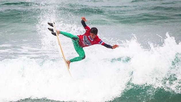 Filipe Toledo (BRA) in action at Relentless Boardmasters - Aquashot / ASPeurope.com