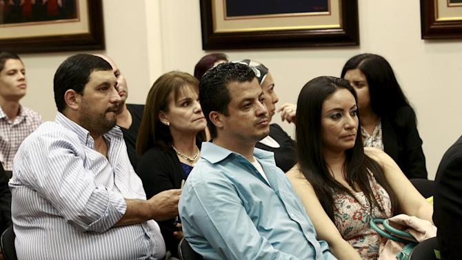 Couples attend a hearing convened by the Inter-American Commission on Human Rights (IACHR) to monitor the government's compliance with the ruling lifting the country's ban on in-vitro fertilization (IVF), in San Jose
