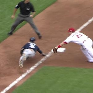 Frazier tags Braun out