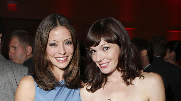 Emmanuelle Vaugier and Rachel Wilson attend the Producers Ball 2012 at the Shangri-La Toronto on Wednesday Sept. 5, 2012, in Toronto, Canada. (Photo by Todd Williamson/Invision for the Producers Ball/AP Images)