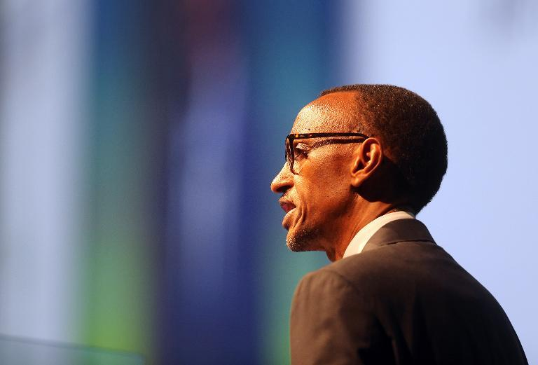 Rwandan President Paul Kagame, pictured on October 22, 2012, angrily condemned a US decision to impose sanctions against his country for allegedly backing rebels in the Democratic Republic of Congo who recruit child soldiers
