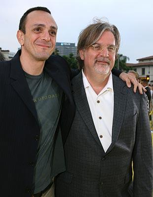 Hank Azaria and Matt Groening at the Los Angeles premiere of 20th Century Fox's The Simpsons Movie