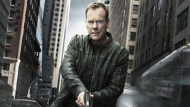 "Kiefer Sutherland as Jack Bauer on ""24."""