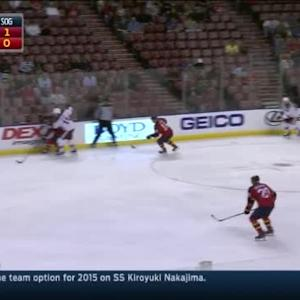 Roberto Luongo Save on Keith Yandle (03:18/1st)