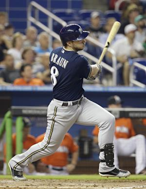 Brewers' Braun making smooth transition to right