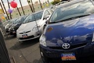 Toyota cars for sale at a Toyota dealer in Hollywood, California, in 2011. Another Japanese auto parts supplier pled guilty Tuesday in a far reaching US probe into price fixing in the auto industry, which has now snared nine different companies on three continents