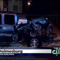 1 Injured In 2-Car Crash In NE Philly