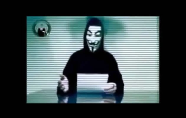 "A reply from an email address left by alleged hacker ""The Messiah"" claimed that members of the activist internet group Anonymous worked together Saturday to temporarily take down websites of the Singapore government. (YouTube grab)"