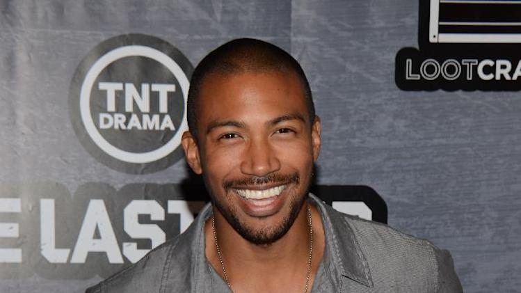 Charles Michael Davis seen at The Last Ship Storm Comic-Con by Sea on Day 2 of Comic-Con International at USS Midway on Friday, July 25, 2014, in San Diego, CA. (Photo by Tonya Wise/Invision/AP)