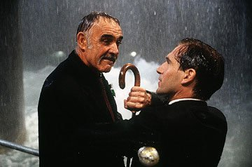 Sean Connery and Ralph Fiennes in Warner Brothers' The Avengers