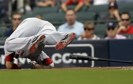 Jay Bruce's 2-run HR powers Reds past Braves, 8-4