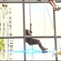 Rappelling In Denver Raises Money For Cancer League Of Colorado