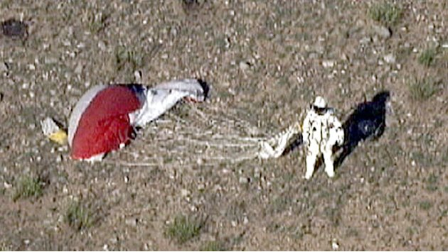 Skydiver Felix Baumgartner Completes 18 Mile Jump