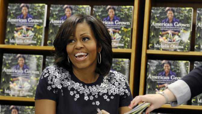 Michelle Obama at book-signing: 'Buy away'