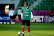 Tomas Rosicky, seen here, says he has very little chance of playing in the Czech Republic&#39;s Euro 2012 quarter-final as he struggles to overcome a calf injury