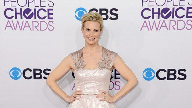 "WORST: Monica Potter. The junior prom theme unfortunately hits the ""Parenthood"" actress, who's wearing a poofy, blush-colored party dress."