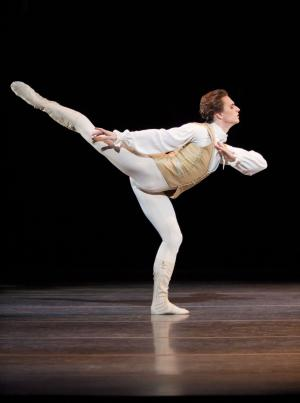 """FILE - In this file photo originally made available on Jan. 26, 2011, dancer Sergei Polunin performs in the Royal Ballet production of Sleeping Beauty by Tchaikovsky at the Royal Opera House, London. One of the ballet world's brightest but most volatile stars has vanished, again. Sergei Polunin had been due to star in a dance piece based on Billy Hayes' prison memoir """"Midnight Express"""" opening next week in London. (AP Photo/Royal Opera House, Johan Persson)"""