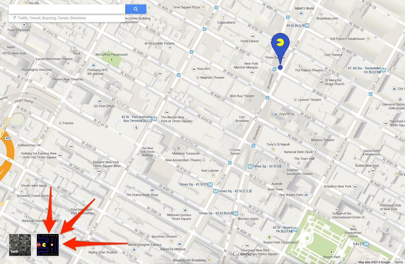 Play Pac-Man in Google Maps with this secret April Fools' Day trick