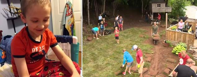 Neighbors band together to help boy with cancer