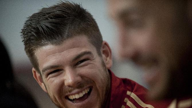 Spain's Alberto Moreno smiles during a press conference in Sevilla on May 29, 2014