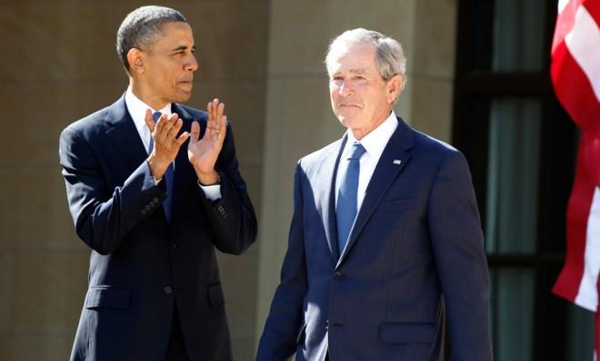 George W. Bush's approval ratings have come a long way since Obama took over.