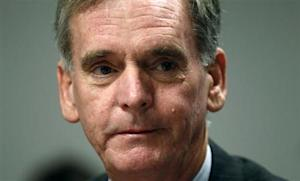 Senator Judd Gregg (R-NH) takes part in the Reuters Washington Summit
