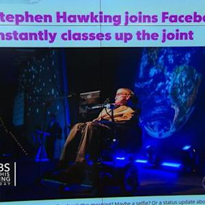 Headlines: Stephen Hawking joins Facebook