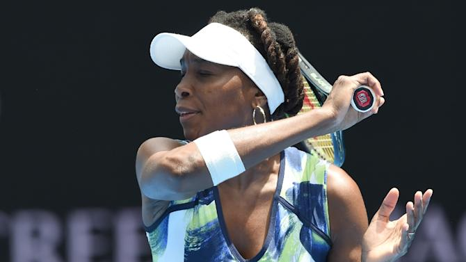 Venus Williams, in action on January 19, 2016, broke Taiwan's Lee Pei-chi three times in their first career meeting as she cantered to victory in less than an hour