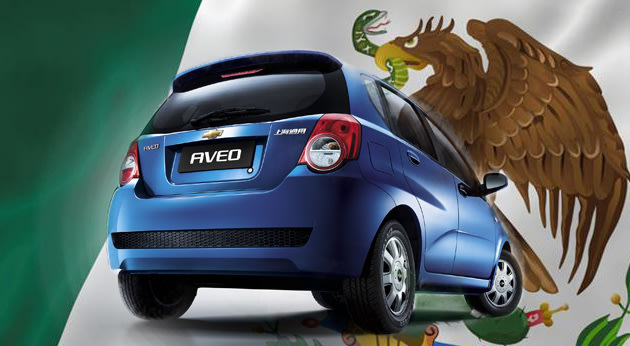 The Chevrolet Aveo, made in Mexico of 2% U.S.-sourced parts, is the least American car from a U.S brand.