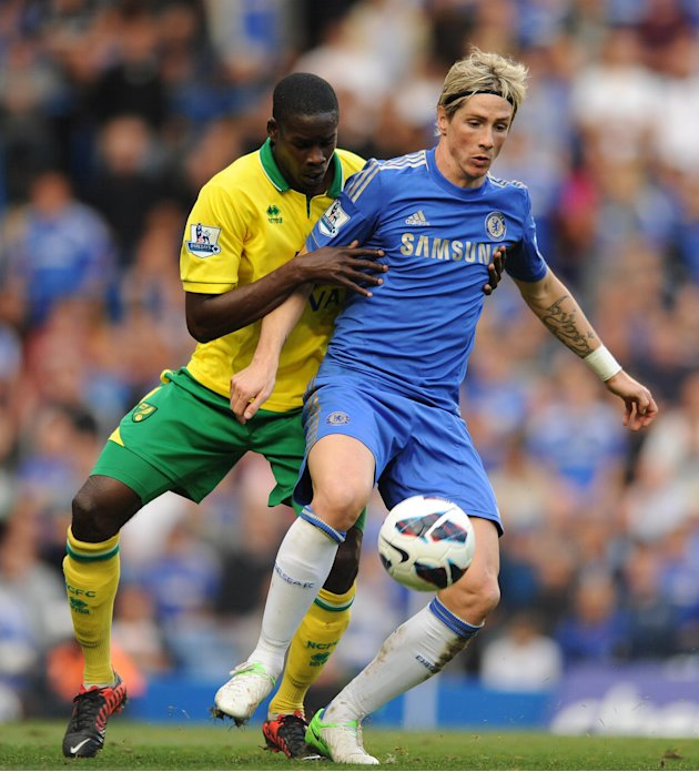 Fernando Torres, right, scored Chelsea's equaliser against Norwich
