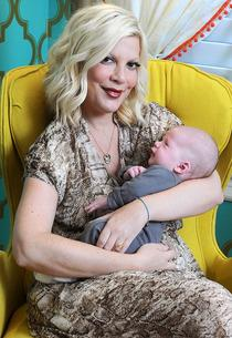 Tori Spelling with son Finn Davey McDermott | Photo Credits: Michael Simon/startraksphoto.com