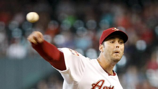 Houston Astros Armado Galarraga (30) pitches in the top of the first inning as the Houston Astros play the Pittsburgh Pirates July 28, 2012 in Houston. (AP Photo/Eric Kayne)