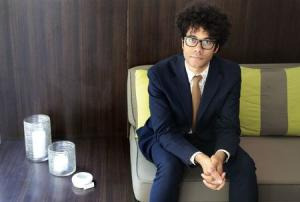 British actor-director Richard Ayoade poses in West Hollywood
