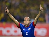 Mahalli Bin Jasuli of Malaysia celebrates his goal against Indonesia on December 1. Malaysia will be without five injured players for Sunday's semi-final clash with Thailand including winger Wan Zack Haikal Wan Nor and midfielder Shakir Shaari