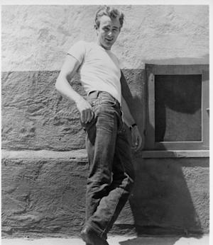 James Dean poses for a Warner Bros publicity shot for his film 'Rebel Without A Cause' in 1955 -- Getty Images