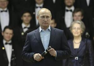 Russia's President Vladimir Putin addresses students at the National Research Nuclear University (MEPhI) in Moscow