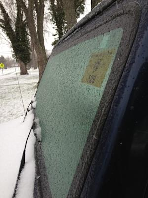 Ice, Snow and Sleet Hit Ohio