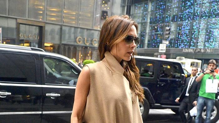 Victoria Beckham seen shopping at Barney's and Prada stores in Midtown, New York City