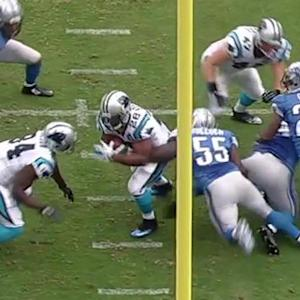 Carolina Panthers running back Jonathan Stewart 2-yard touchdown