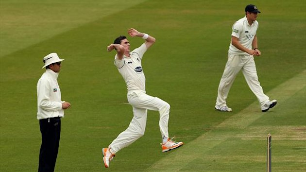 Steve Magoffin took five of Yorkshire's second innings wickets