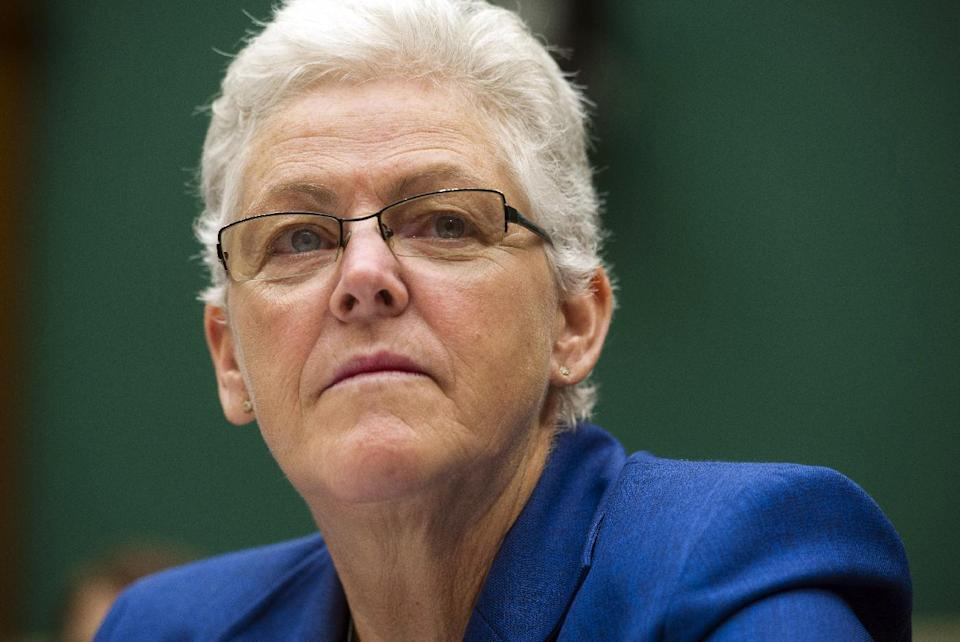 FILE - In this Sept. 18, 2013 file photo, EPA administrator Gina McCarthy testifies on Capitol Hill, in Washington. Republican lawmakers and industry groups are ramping up legal and legislative efforts to derail Obama's climate change agenda. A look at the options. (AP Photo/Cliff Owen, File)