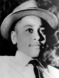 FILE - This undated file photo shows Emmett Till, a black 14-year-old Chicago boy, who was brutally murdered near Money, Mississippi, Aug. 31, 1955, after whistling at a white woman. Epic Records is going to &quot;great efforts&quot; to take down a new Future remix leaked over the weekend with a vulgar lyric by Lil Wayne that has offended the family of Emmett Till. (AP Photo/File)