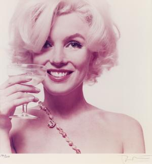 This 1962 photo provided by Freeman's auction house in Philadelphia shows one of a limited-edition portfolio of 10 photos of Marilyn Monroe that is scheduled to go on the block Tuesday, Sept. 10, 2013. The photos were made from fashion photographer Bert Stern's original negatives from his June 1962 assignment for Vogue. (AP Photo/Freeman's, Bert Stern)