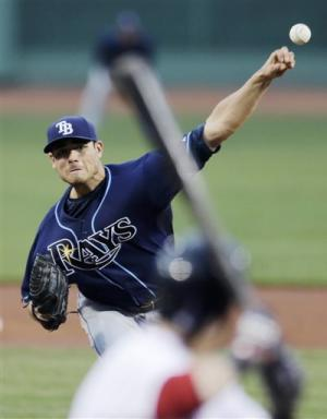 Moore's 1st shutout leads Rays past Red Sox 3-0