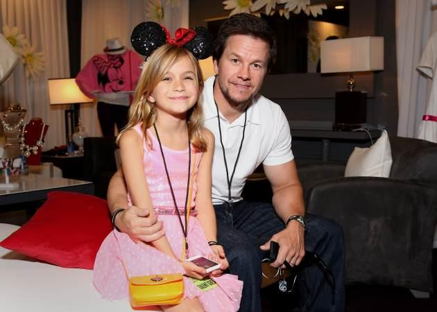 Mark Wahlberg and daughter Ella flash a smile inside the Minnie Gifting Lounge at the 2013 Radio Disney Music Awards on April 27, 2013 in Los Angeles -- Getty Images