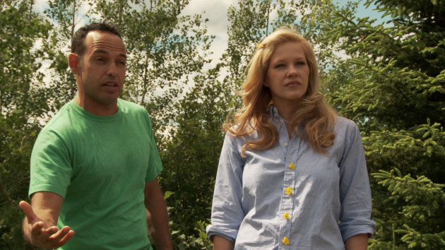 Shaun Majumder and Shelby Fenner