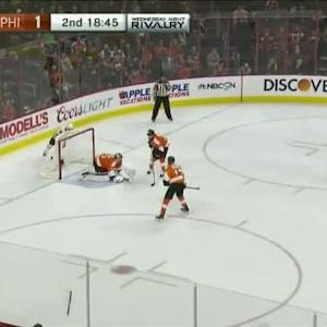 Steve Mason Save on Marcus Kruger (01:15/2nd)