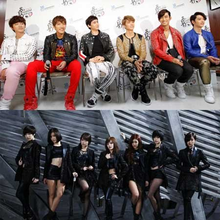 2PM and T-ara Stand Together on Oricon Charts