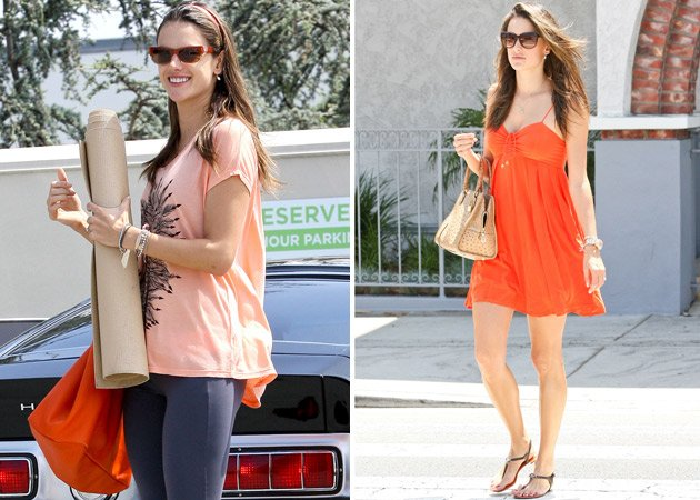Yoga und Shopping: So &amp;#34;trainiert&amp;#34; Alessandra Ambrosio die Babypfunde ab (Bilder: Splash)