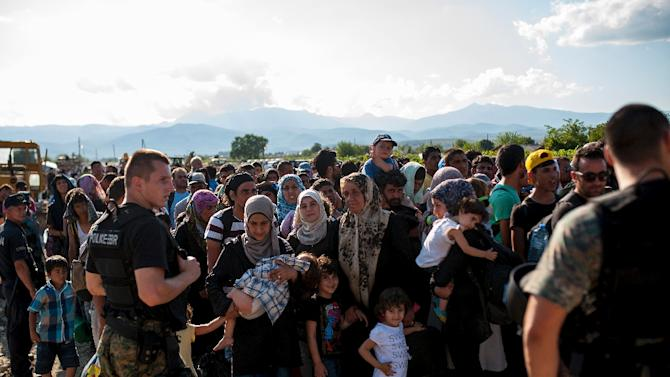 Official figures show a record 107,500 migrants crossed into the EU last month and there are mounting calls for the bloc to adopt a more unified approach in dealing with the influx